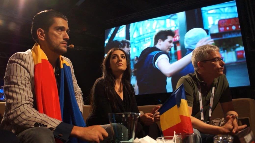 Cezar, Alexandra Toma, Dan Manoliu - waiting for the announcement